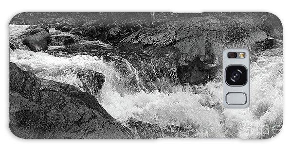 Cascade Stream Gorge, Rangeley, Maine  -70756-70771-pano-bw Galaxy Case