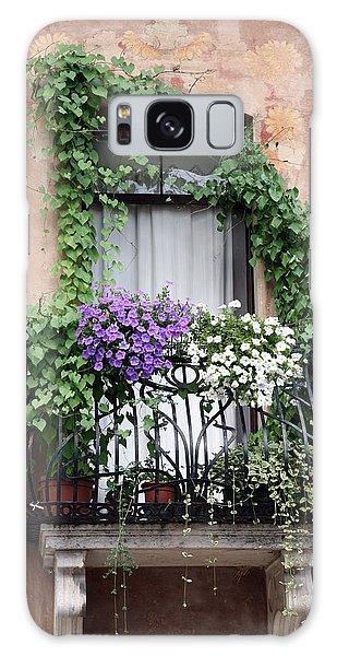 Cascading Floral Balcony Galaxy Case