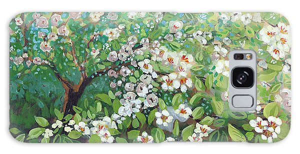 Blossoms Galaxy Case - Cascading by Jennifer Lommers