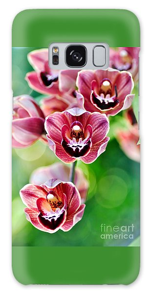 Cascading Miniature Orchids Galaxy Case