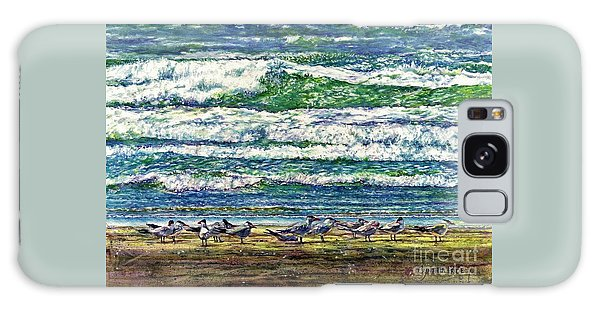 Caspian Terns By The Ocean Galaxy Case