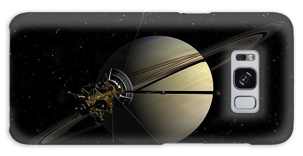 Cassini Orbiting Saturn Galaxy Case