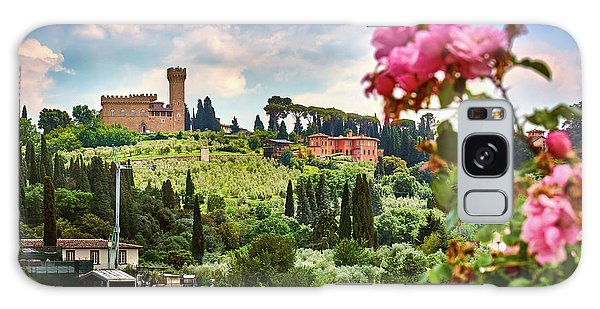 Castle And Roses In Firenze Galaxy Case