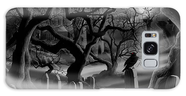 Castle Graveyard I Galaxy Case by James Christopher Hill