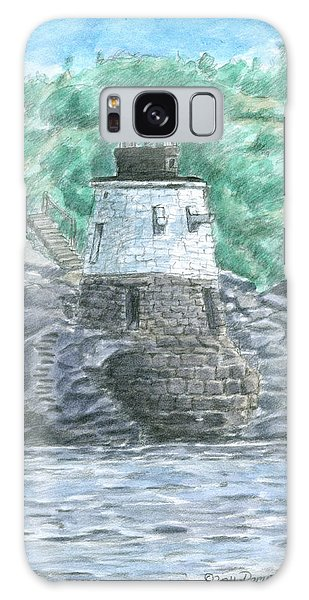 Galaxy Case featuring the painting Castle Hill Lighthouse by Dominic White
