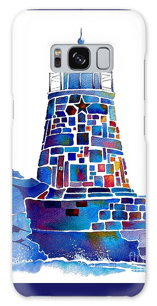 Castle Hill Newport Lighthouse Galaxy Case by Jo Lynch