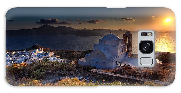 Castle In Milos At Plakas Galaxy Case by Andres Leon