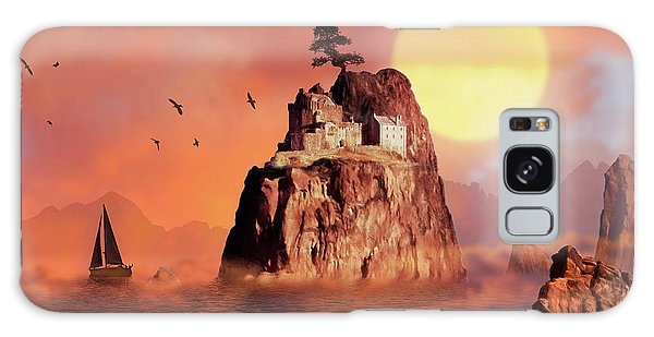 Castle On Seastack Galaxy Case