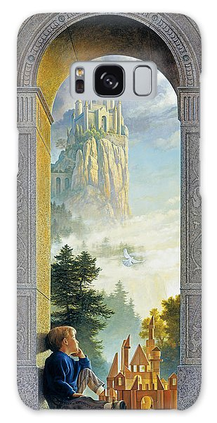Galaxy Case featuring the painting Castles In The Sky by Greg Olsen