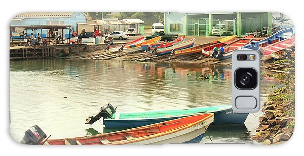 Castries Harbor Waterfront Galaxy Case by Roupen  Baker