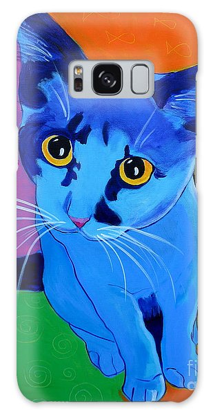 Cat - Kitten Blue Galaxy Case