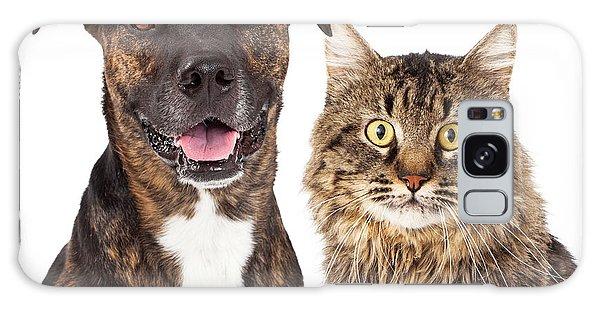 Cat And Dog Closeup Galaxy Case