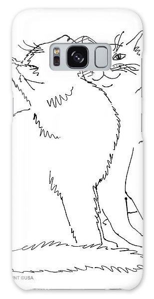 Cat-art-curious Galaxy Case
