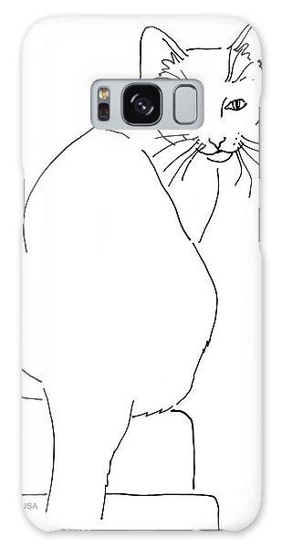 Cat-artwork-prints Galaxy Case