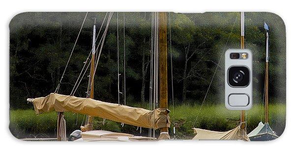 Cat Boats Galaxy Case by Michael Friedman