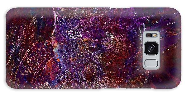Galaxy Case featuring the digital art Cat Cat S Eyes Eye Animal Pet  by PixBreak Art