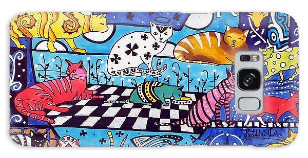 Cat Cocktail - Cat Art By Dora Hathazi Mendes Galaxy Case