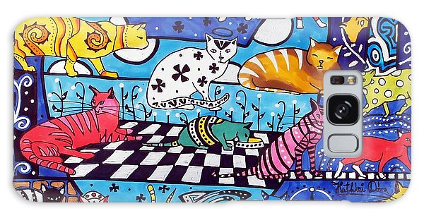 Cat Cocktail - Cat Art By Dora Hathazi Mendes Galaxy Case