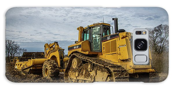 Excavator Galaxy Case - Cat Construction by Mike Burgquist