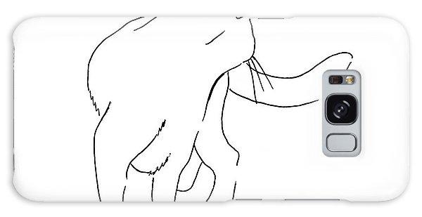 Cat-drawings-black-white-2 Galaxy Case by Gordon Punt