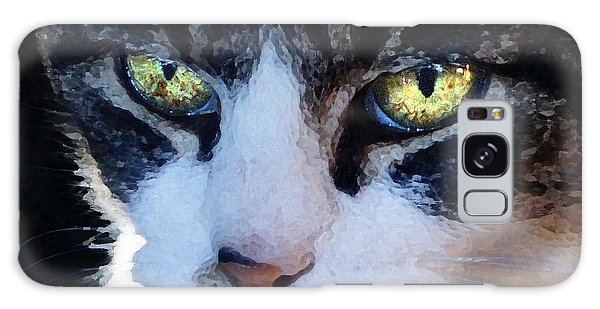 Cat Eyes Galaxy Case by Jana Russon