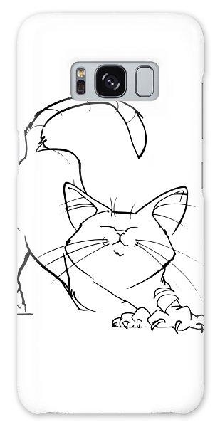Cat Gesture Sketch Galaxy Case