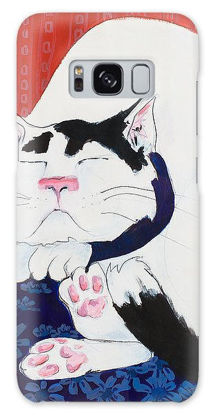 Cat I - Asleep Galaxy Case by Leela Payne