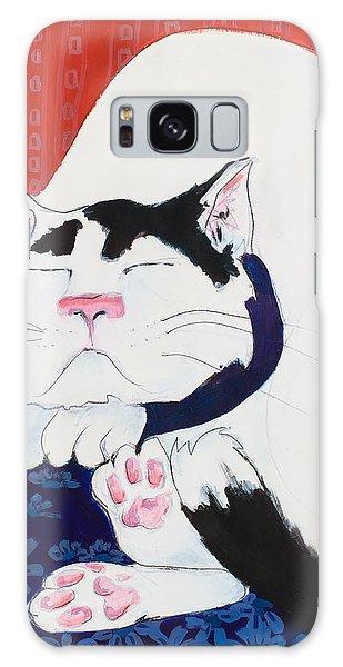 Cat I - Asleep Galaxy Case by Leela Payne