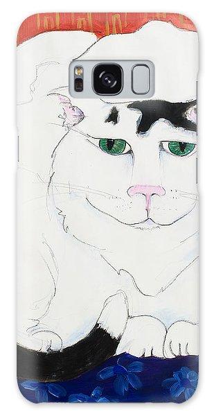 Cat II - Cat Dozing Off Galaxy Case by Leela Payne