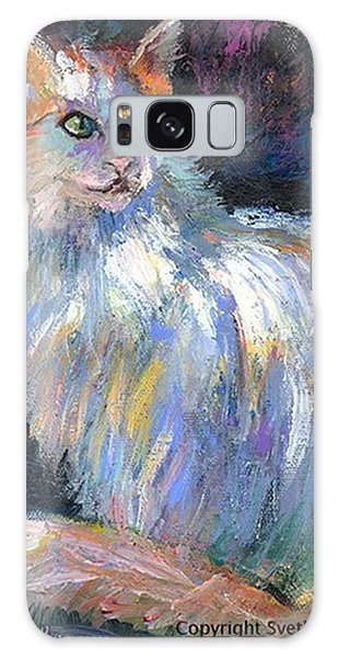 Cat In A Sun Painting By Svetlana Galaxy Case