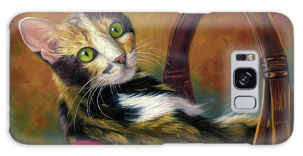 Calico Cat Galaxy Case - Cat In The Basket by Lucie Bilodeau