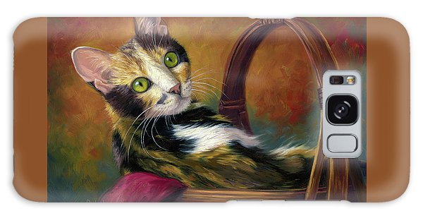 Cat In The Basket Galaxy Case