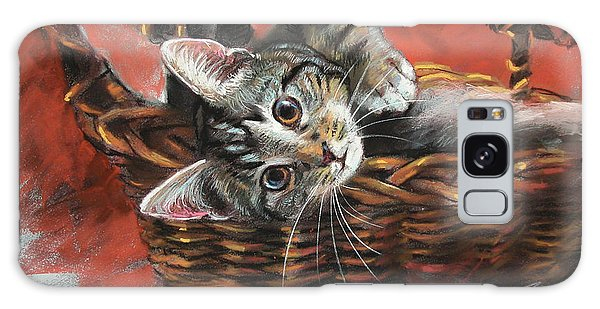 Basket Galaxy Case - Cat In The Basket by Ylli Haruni