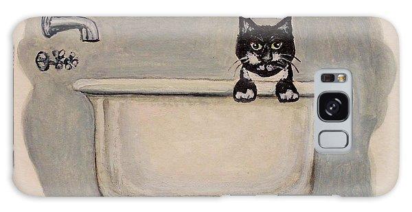 Cat In The Bathtub Galaxy Case