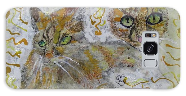 Cat Named Phoenicia Galaxy Case by AJ Brown