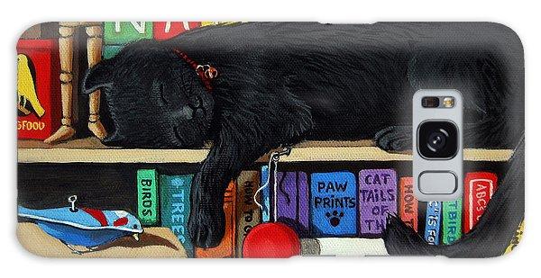 Cat Nap - Orginal Black Cat Painting Galaxy Case