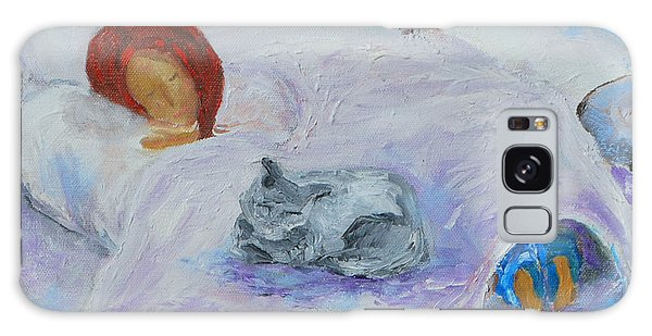 Cat Nap  Galaxy Case by Reina Resto