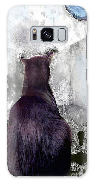 Cat's Blue Moon Galaxy Case