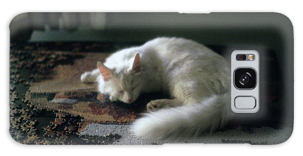 Cat On A Puzzle Galaxy Case