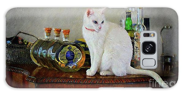 Cat On The Liquor Cabinet Galaxy Case