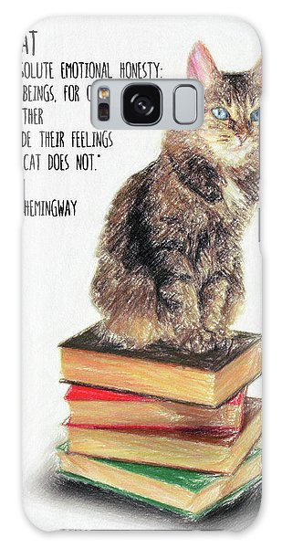 Decorative Galaxy Case - Cat Quote By Ernest Hemingway by Zapista Zapista