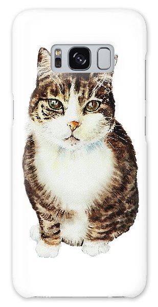 Watercolor Pet Portraits Galaxy Case - Cat Watercolor Illustration by Irina Sztukowski