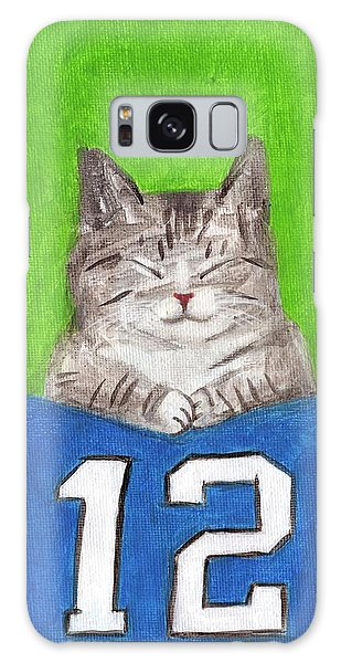 Cat With 12th Flag Galaxy Case