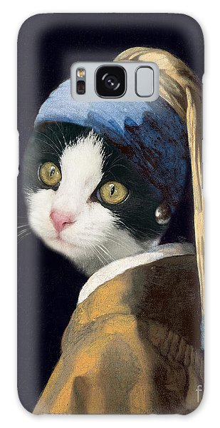 Scarf Galaxy Case - Cat With A Pearl Earring by Delphimages Photo Creations