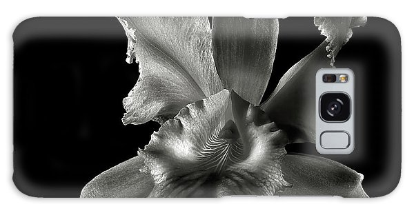 Catalea Orchid In Black And White Galaxy Case