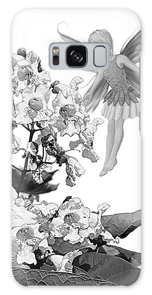 Catalpa Tree Fairy With Flowers B And W Galaxy Case