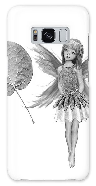 Catalpa Tree Fairy With Leaf B And W Galaxy Case