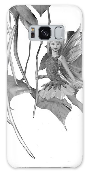 Catalpa Tree Fairy With Seed Pods B And W Galaxy Case
