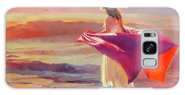 Woman Galaxy Case - Catching The Breeze by Steve Henderson