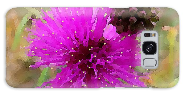 Galaxy Case featuring the digital art Catclaw Pink Mimosa  by Shelli Fitzpatrick